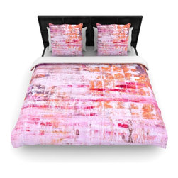 """Kess InHouse - Iris Lehnhardt """"Bittersweet"""" Pink Orange Fleece Duvet Cover (Twin, 68"""" x 88"""") - You can curate your bedroom and turn your down comforter, UP! You're about to dream and WAKE in color with this uber stylish focal point of your bedroom with this duvet cover! Crafted at the click of your mouse, this duvet cover is not only personal and inspiring but super soft. Created out of microfiber material that is delectable, our duvets are ultra comfortable and beyond soft. Get up on the right side of the bed, or the left, this duvet cover will look good from every angle."""