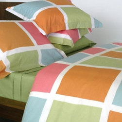 Area Blocks Duvet Covers and Shams - The grid will never stop being modern – why not add it as a pillowcase, sheet set, and/or duvet cover? Choose from a palette of bright colors or more subdued neutrals.
