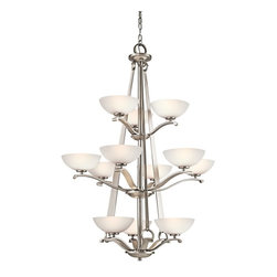 KICHLER - KICHLER 42358AP Garland Transitional 12-Light Chandelier - The Kichler Garland Collection is ideal for the casual, warm and inviting home. It incorporates sturdy forged metal craftsmanship and strong lines to create a cozy environment. Simple in design, the Garland Collection works with a variety of decorating styles, from Craftsman and Mission to Lodge and everything in between.
