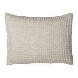 """Horchow - Standard Quilted Sham - NATURAL - Standard Quilted ShamDetailsMade of linen.Machine wash cold.20"""" x 26"""".Imported."""