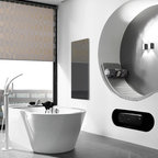 Infrared Heating Panel - Black Glass - 60x120 -