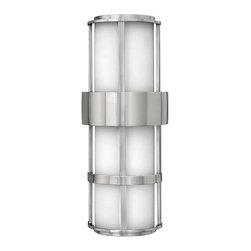 Hinkley Lighting - Hinkley Lighting 1909SS-GU24 Saturn Stainless Steel Outdoor Sconce - Hinkley Lighting 1909SS-GU24 Saturn Stainless Steel Outdoor Sconce