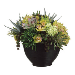 "Silk Plants Direct - Silk Plants Direct Cymbidium Protea, Orchid and Hydrangea (Pack of 1)"" - Silk Plants Direct specializes in manufacturing, design and supply of the most life-like, premium quality artificial plants, trees, flowers, arrangements, topiaries and containers for home, office and commercial use. Our Cymbidium Protea, Orchid and Hydrangea includes the following:"