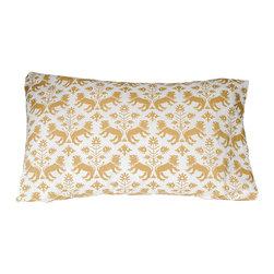 Trekatte - The Lion Sleeps Bedding by Trekatte, Pair Standard Cases - Rest like royalty on 100% cotton percale.