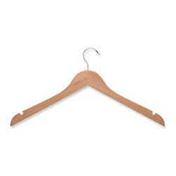 Honey Can Do - 10 Pack Wood Shirt Hanger- Cedar - 10pk wood, no bar. Chrome hook. Cedar, 1pc card. 17 in. x 5.95 in.