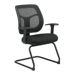 Eurotech - Apollo Guest Chair MTG9900 - Apollo Guest Chair MTG9900 - Seating with a mission... synchro-tilt backrest, molded foam waterfall seat are combined with adjustability for out-of-this-world comfort and state-of-the-art control. The Apollo Series offers the cooling comfort of mesh, with ergonomic adjustability resulting in chairs that are very comfortable. This chair would be a great choice for a home office, conference room or for individuals who are up and down throughout the day. Mesh Back, Solid Metal Unibase, Padded Arm 24'W x 20'D x 36'H SEAT 20'W x 19.3'D BACK19'W x 20'H WEIGHT39 lbs - Mid Century Modern Furniture.