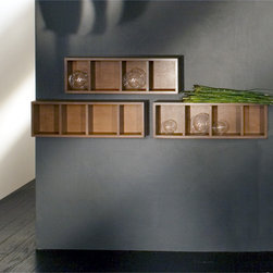 Lacava Stone Open Wall Cubbies - If you're short on storage in a small bathroom, these wall shelves are terrific. They can be installed horizontally or vertically. Store items inside and on top. They also come in a variety of wood species and finishes.