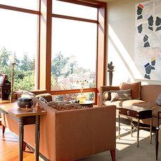 Eclectic Living Room by Hensel Design Studios