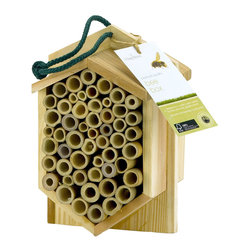 PineBush - Bee Box - FSC cedar. Designed to provide a safe habitat for bees and other garden insects.