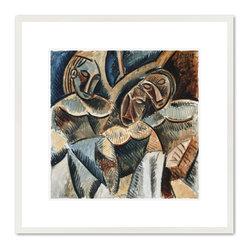 Trois figures sous un arbre (Three Figures Under a Tree) - Pablo Picasso, Trois figures sous un arbre (Three Figures Under a Tree). Mus'e National Picasso.