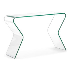 Zuo Modern - Zuo Respite Console Table - Console Table belongs to Respite Collection by Zuo Modern The Respite console table is elegantly formed from clear tempered glass. Console Table (1)