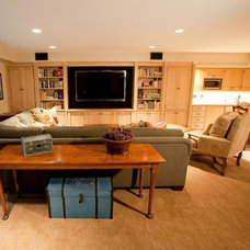 Traditional Basement by AM Interior Design