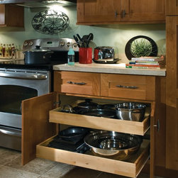 Kitchen Accessories - t's all about maximizing storage space, and our extra deep drawers and optional full extension runners put all your large pots and pans within easy reach.