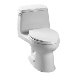 Toto - Toto MS854114SG#01 Cotton White UltraMax Toilet, 1.6 GPF with SanaGloss - The UltraMax collection gives your bath a modern, tapered design flow and classically simple style.