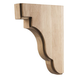 Hardware Resources - Cherry Bar Brackets Square Corbels - Square Edge Bar Bracket 1-3/4In. x 8-1/2In. x 11In. Species: Cherry