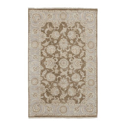 """Surya - Traditional Timeless Sample 1'6""""x1'6"""" Sample Brown-Pale Gold  Area Rug - The Timeless area rug Collection offers an affordable assortment of Traditional stylings. Timeless features a blend of natural Brown-Pale Gold  color. Hand Knotted of 100% New Zealand Hard Twist Wool the Timeless Collection is an intriguing compliment to any decor."""