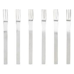 mini cocktail forks set of six -