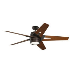 "Emerson - Emerson CF550WAORB 54"" Luxe Eco Outdoor Ceiling Fan - Wall Control and Light Kit - Emerson CF550WAORB Luxe Eco 54"" Luxe Eco Outdoor Ceiling Fan - Wall Control and Light Kit IncludedSleek modern lines punctuate the Luxe Eco. This smartly styled 54"" fan includes five stylish custom designed blades in a Walnut finish while the motor housing is Oil Rubbed Bronze. A matching integrated light kit with attractive Opal Matte glass is included as well as a no-light plate usable if desired. Easily control this six speed fan with the included wall control with receiver (optional remote controls available). The powerful and quiet energy-efficient EcoMotor operates up to three times more efficiently than typical ceiling fan motors while the steeper blade pitch lets it move more air using less energy, making this an eco-conscious and savings-conscious choice. Let the Luxe Eco do its part in your home or office to save the environment while sacrificing neither style nor comfort.Emerson CF550WAORB Features:"