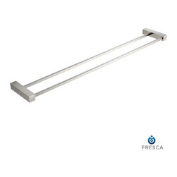 "Fresca - Fresca Ottimo Double Bathroom Towel Bar 26"" - All our bathroom accessories are imported and are selected for their modern, cutting edge designs. All accessories are made with brass with a quadruple chrome finish. All our accessories have been chosen to complement our other line of products including our vanities, steam showers, whirlpools, and toilets."