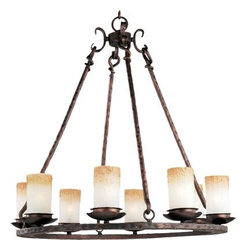 Maxim Lighting - Maxim Lighting 10976WSOI Notre Dame 8-Light Chandelier In Oil Rubbed Bronze - Features