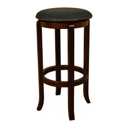 American Heritage - American Heritage Princess 30 Inch Barstool in English Tudor - A simple but sturdy frame accented with the black full swivel padded cushion makes this Princess stool perfect for any room of the house. What's included: Barstool (1).