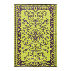 KOKO - Classic Duo Tone Rug, Aubergine, 4'x6' - Use this cheery rug in the kitchen, at the front door or on the back patio. Since it's made of propylene, cleanup is as easy as spraying it off with a hose — so you don't have to be afraid of food and drink spills. It's the perfect pop of color for any home.