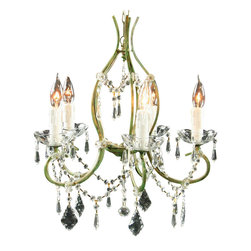 EuroLux Home - Consigned New Rococo 5-Arm Chandelier Glass - Product Details