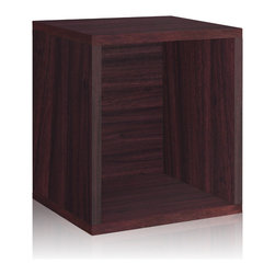 Way Basics - Way Basics Eco Stackable Storage Cube Plus, Espresso - Why purge when you can neatly stack and store? Super cubes come to the rescue in a dorm room, studio apartment, home office or other space-challenged place. They're a breeze to build (just peel and stick!) and formaldehyde- and VOC-free.