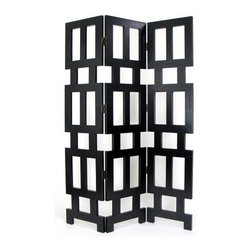 Wayborn - Abertson 3 Panel Room Divider Screen - 3 Panels. Made from Solid Basswood. Smooth finish. 54 in. W x 78 in. H (76 lbs.)