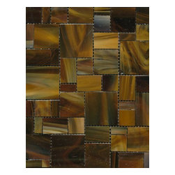 UBC - Cedar Tavern Glass Mosaic Tile - Sundae Blend, 1 Sheet (.897 Square Feet) - Cedar Tavern Glass tile collection is inspired by the artistic movement and nature of the well know lower Manhattan village, these mosaics offer a unique blend of drama and texture that are distinctive to this specialty glass.