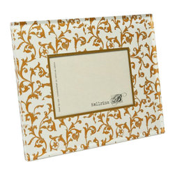Belle & June - Gold Florentine Frame - This exquisite, unique frame incorporates elegant patterns within a Lucite panel. The panel depth creates a luminous fresh look perfect for any home decor. The frames are sophisticated, fun and timeless. Comes in gift box. Hand crafted in the USA.
