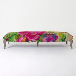 Kilim Rose Bench - An entire party-style room could be designed around this bench.