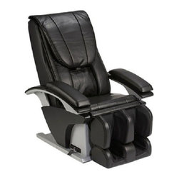 """Panasonic EPMA51KU Full Zero G Body Scan Massage Chair Recliner w/ Remote - Real Pro Total Body Massage ChairPanasonic Real Pro CollectionThe latest luxury massage chair from the leaders in massage replication technology for over 40 years-Panasonic. The Panasonic Real Pro EP-MA51KU is designed to help you achieve therapeutic muscle relaxation and increased blood flow throughout your body to promote good health. The EP-MA51KU takes massage therapy to the next level with its ingenious Intensity Control Sensor that monitors and adjusts the pressure of individual massage heads for a perfectly balanced massage, free of uncomfortable pressure points no matter what your body type might be. The Panasonic Real Pro is truly like having your very own massage therapist at home1315aTrunk Rotation & Pelvic Tilt -This mode is designed to gently stretch and flex the muscles around the pelvis and the lower body. A large seat airbag combined with a smaller one underneath combine to grasp and gently twist and rotate the seat and thigh areas.The """"Junetsu"""" Massage Technique -Junetsu, the Japanese word for 'ultra-fine kneading' is based on the one-second circular thumb movements of professional massage therapists. Junetsu quickly loosens up tight muscles, and the spiral circular motion reverberates through muscles to invigorate down to your bones' surface.Arm and Palm Massage -Pressure point simulation for palm and arm. Results in increased circulation, warmth and released tension1315bAuto Recline -Recline is controlled electronically to 170 degrees, allowing you to choose the position in which you're most comfortable while receiving your massage.Air Ottoman System -A 14 airbag system provides a more complete lower body massage including: Calves kneading and loosening of the shins and calf muscles, Feet upward pressure is applied using four airbags for ultimate relief.Reflexology -Professional massage therapy on your feet, the EP-MA51KU utilizes adjustable and removable plates to incorpo"""