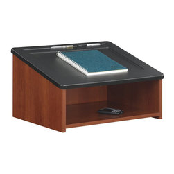 Safco - Safco Tabletop Lectern in Cherry - Safco - Lectern - 8916CY - The Table Top Lectern has a convenient open storage area under the presentation surface and routed pencil groove to keep writing instruments in place.