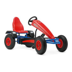 Berg USA - Berg USA Extra AF Sport Pedal Go Kart - Red - 03.36.02.00 - Shop for Tricycles and Riding Toys from Hayneedle.com! The BERF Extra AF Sport Riding Toy is a full size classic kart that will let you race fast splash big and win easily. The added aerodynamics provided by the kart's hood will keep you going fast and the tight steering will help you navigate across grass pavement dirt gravel cement and any other packed surface. The kart's dual wheel rear hand brake will also prove handy after all that racing splashing and winning. And an adjustable seat ensures this will all take place in pure comfort.About BERG USAFounded in 2010 BERG USA is quickly becoming a recognized name in children's riding toys with their innovative designs and attention to safety that don't get in the way of their dedication to providing outdoor exercise for both kids and adults. BERG USA designs and offers a wide variety of high-quality pedal go-karts for home or commercial use ranging in size to comfortably accommodate ages 2 through adult as well as their versatile line of MOOV construction kits.