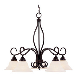 Savoy House - Savoy House KP-101-5 5 Light Down Lighting Chandelier from the Bryce Collection - Five light chandelierFeatures Cream Faux Alabaster GlassRequires five 60w medium base bulbs