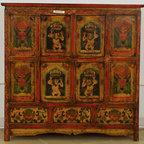 Tibetan Painted Cabinet - Tibetan Painted Cabinet