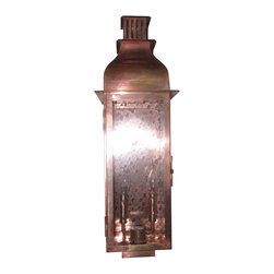 St. James Lighting - Sarasota Small Copper Wall Mount Lantern - Sarasota Small Copper Wall Mount Lantern. The Sarasota Lantern provides several different options for placement and operation. It can be mounted on the wall with several different wall mounts to choose from or mount it from the ceiling for a romantic touch. This lantern can even be placed on a stand alone post! For an open flame and a more natural look, natural gas or propane gas can be used. A light switch or other device can be used to automatically light the Madison. If you decide on electric lighting, choose from a Edison Socket or a Candelabra Cluster for the lighting display.