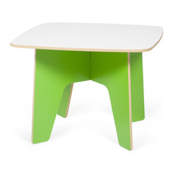 Quark Enterprises - Kids Table, Green/White - This looks like a fresh take on a folding table. Having a kids table that can be easily assembled for crafts or snack time and then hidden it away at the end of the day is great for any family. And you won't have to pull out the tool box to get it all done.
