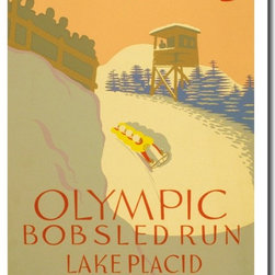 PosterEnvy - 1932 Olympic Bob Sledding - NEW Vintage WPA Reproduction Poster - 1932 Olympic Bob Sledding - NEW Vintage WPA Reproduction Poster