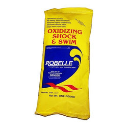 Robelle - Robelle Shock & Swim Non-Chlorine Shock - 100% Monopersulfate - 1701-06 - Shop for Cleaning and Maintenance from Hayneedle.com! Robelle Shock & Swim Non-Chlorine Shock - 100% Monopersulfate is the perfect way to quickly get your pool up and running. This product is perfectly safe for swimming immediately after treatment and will not affect pH or chlorine levels while it destroys organic contaminants and chloramines. Compatible with bromine and chlorine. 100% Monopersulfate.About Robelle IndustriesSince 1973 Robelle Industries has been providing superior dependable and affordable swimming pool products. They have painstakingly built a line of quality swimming pool products that include pool chemicals pool accessories and everything in between. Robelle is dedicated to finding new product formulations that meet superior standards of pool chemical efficacy and product durability so your pool is safe crystal clear and healthy.