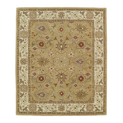 Kaleen - Kaleen Taj Collection TAJ07-43 5' x 7'9 Camel - The Taj collection is inspired with classic style and traditional patterns that mix beautifully with today's formal, casual, and transitional d_cor to complete a forever timeless masterpiece. Hand-tufted in India of 100% wool.