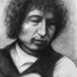 """""""Series Of Dreams"""" (Original) By Karen Roncari - I Saw A Picture Of Dylan On The Internet That Intrigued Me; It Was Low Quality, Blurred, But I Loved It! Using It For Reference, I Rendered On Canvas With Powdered Charcoal In Same Soft Manner."""