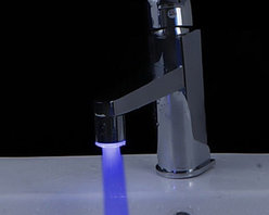 Faucet Accessories - Color Changing LED A Grade ABS Chrome Finish Faucet Sprayer Nozzle(Universal Compatibility)--FaucetSuperDeal.com