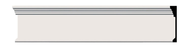 """Ekena Millwork - 7 3/4""""H x 1 1/8""""P x 96""""L Odessa Panel Moulding - 7 3/4""""H x 1 1/8""""P x 96""""L Odessa Panel Moulding. Our beautiful panel moulding and corners add a decorative, historic, feel to walls, ceilings, and furniture pieces. They are made from a high density urethane which gives each piece the unique details that mimic that of traditional plaster and wood designs, but at a fraction of the weight. This means a simple and easy installation for you. The best part is you can make your own shapes and sizes by simply cutting the moulding piece down to size, and then butting them up to the decorative corners. These are also commonly used for an inexpensive wainscot look."""