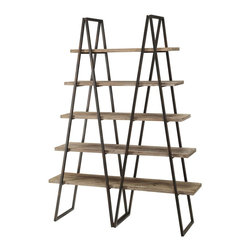 Ashland Weathered Oak Bookshelf - Ashland weathered oak bookshelf