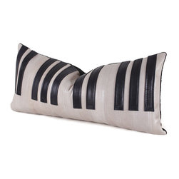 Pfeifer Studio - Piano Keys Pillow - You'll be positively tickled over the whimsical interplay of ivory leather with stitched black leather keys, making for an engaging display. Perfect for the music enthusiast in your life or as a wild accompaniment to a backdrop of solid pillows, this piece is a notable addition to your collection.
