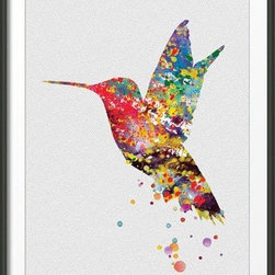 KidsPlayHome - Magic Hummingbird Wall Art - Playroom Art Print