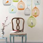 New for Back to School & Dorm Room Decor - St Tropez Birdcages wall decals New for Back to School & Dorm Room Decor