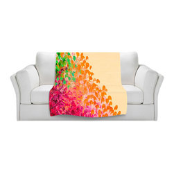 DiaNoche Designs - Fleece Throw Blanket by Julia Di Sano - Creation in Color Autumn Infusion - Original Artwork printed to an ultra soft fleece Blanket for a unique look and feel of your living room couch or bedroom space.  DiaNoche Designs uses images from artists all over the world to create Illuminated art, Canvas Art, Sheets, Pillows, Duvets, Blankets and many other items that you can print to.  Every purchase supports an artist!